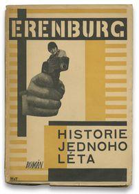 Karel Teige et Otakar Mrkvička, couverture pour Historie jednoho léta (Histoire d'un été) d'Ilja Erenburg, Éd. Odeon, Praha, 1927 / Collection Pierre Ponant
