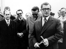 Lubomír Štrougal (vpravo), foto: archiv ČRo