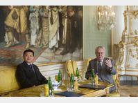 Kim Pyong-il et Miloš Zeman, photo: ČTK