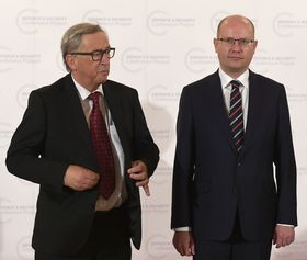 Jean-Claude Juncker, Bohuslav Sobotka, photo: CTK