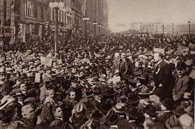 Tomáš Garrigue Masaryk in Chicago in 1917