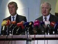 Andrej Babiš y Jaroslav Faltýnek, foto: ČTK