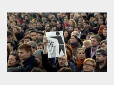Solidarity gathering at Prague's Jiřího z Poděbrad square, photo: CTK