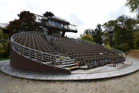 Otáčivá divadelní scéna vČeském Krumlově, foto: Ondřej Tomšů