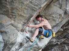 Adam Ondra at Hanshelleren cave in Flatanger, Norway, photo: CTK