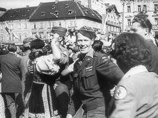 Las tropas estadounidenses en Pilsen, foto: ČT