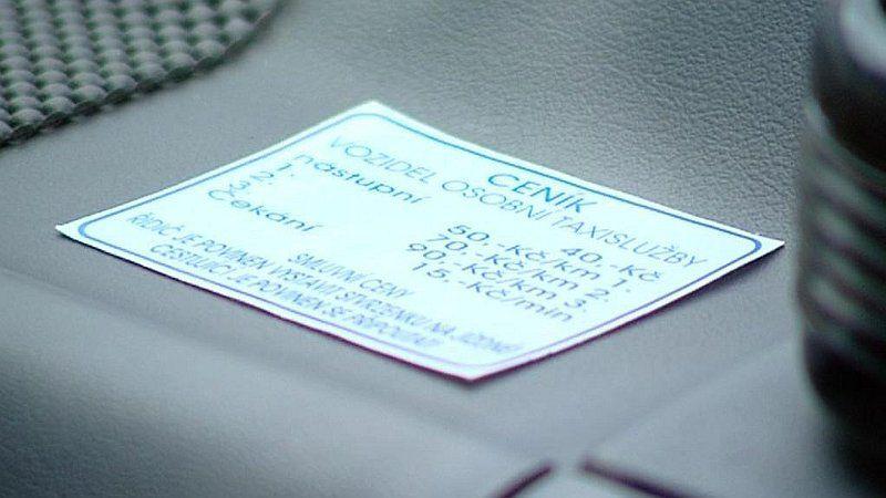 Taxi Fahrt Radio Prag