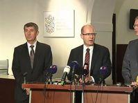 Андрей Бабиш, Богуслав Соботка, Павел Белобрадек (Фото: ЧТ24)