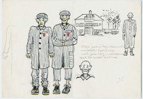 Le dessin de Josef Čapek de camp de concentration, photo: ČT24