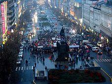 La place Venceslas, photo: Štěpánka Budková