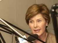 Laura Bush in RFE, Photo:CTK