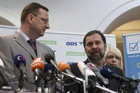 Petr Nečas et Radek John, photo: CTK