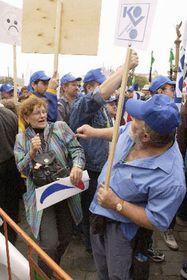 Trade union members on Palachovo Square, photo: CTK