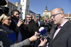 Bohuslav Sobotka, Vyškov, photo: ČTK