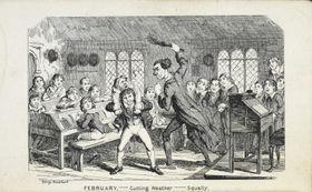 Tělesné tresty ve škole nebyly ještě vpolovině 19. století ničím výjimečným, zdroj: British Library, Wikimedia Commons, CC0 1.0