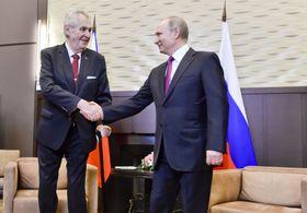 Miloš Zeman y Vladimir Putin, foto: ČTK