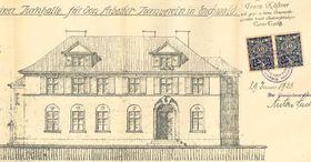 Entwurf der für den Arbeiter-Turnverain in Dubí (Quelle: Archiv der Stadt Dubí)
