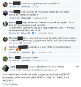 Hasskommentare auf der Facebook-Seite (Foto: Facebook)