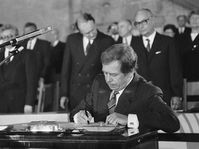 Václav Havel's inauguration, photo: CTK