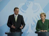 Petr Nečas y Angela Merkel, foto: ČTK