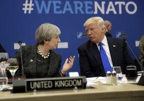 British prime minister Theresa May, Donald Trump, photo: CTK
