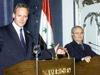 Ministro de RR.EE. checo, Cyril Svoboda con su homólogo Farúk Sará, Damasco, foto: CTK