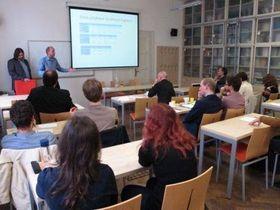 Лекция в Институте восточно-европейских исследований, Фото: Фейсбук Марека Пржигоды