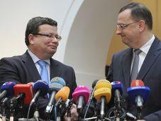 Alexandr Vondra, Petr Nečas, photo: CTK