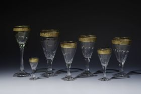 Verre de la marque Moser, photo: © Collection du Château de Prague, Jan Gloc