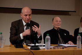 Pavel Fischer et Michel Vinaver, photo: Centre tchèque de Paris