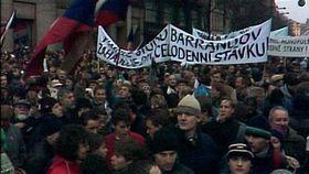 November 1989 in Prague, photo: Czech Television