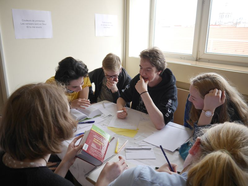 Atelier d'écriture de haïku, photo: Magdalena Hrozínková