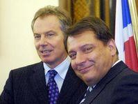 Tony Blair et Jiri Paroubek, photo: CTK