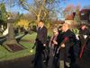 Tomáš Petříček during a memorial act which took place at a cemetery near Manchester, photo: Tom McEnchroe