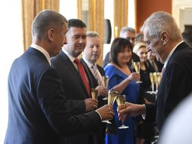 Andrej Babiš, Miloš Zeman, photo: ČTK/Krumphanzl Michal