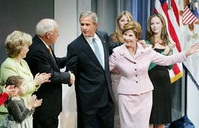 La victoria de George Bush (Foto: CTK)