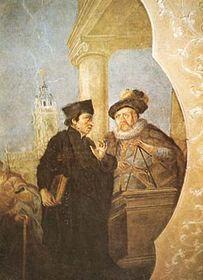Tycho Brahe con el sextante
