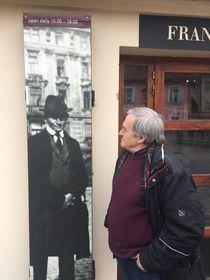Сергей Бирюков в музее Кафки в Праге, фото: Евгений Деменок