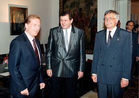 Václav Havel, Vladimír Mečiar, Václav Klaus in 1992, photo: CTK