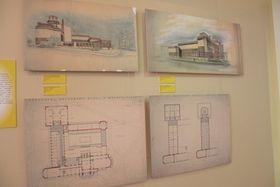 Planos arquitectónicos de Gočár