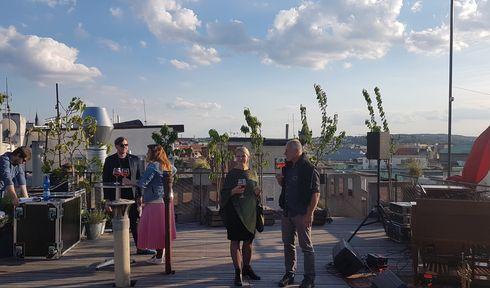 Třešňový sad na střeše paláce Lucerna, foto: Zdeňka Kuchyňová