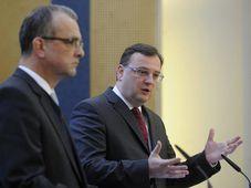 Miroslav Kalousek (vlevo) a Petr Nečas, foto: ČTK