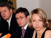 Zleva: Martin Bursík, Ondřej Liška a Kateřina Jacques, foto: ČTK