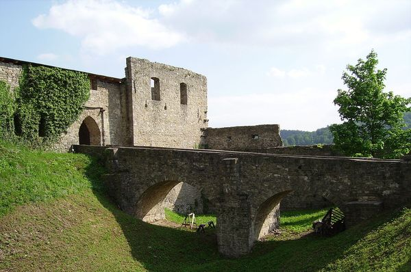Burg Hukvaldy (Foto: Tedmek, Public Domain)