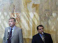 Mirek Topolanek et Jiri Paroubek, photo: CTK