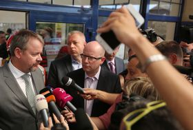 Dan Ťok, Milan Chovanec et Bohuslav Sobotka, photo : ČTK