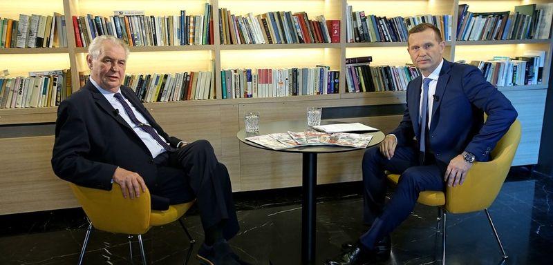 Miloš Zeman y Jaroslav Soukup, foto: TV Barrandov