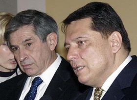 President of the World Bank Paul Wolfowitz and the Prime Minister Jiri Paroubek, photo: CTK