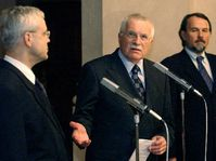 Vladimir Spidla a Vaclav Klaus, photo: CTK