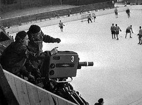 Primera transmisión en directo de un evento deportivo de la Televisión Checoslovaca (Foto: CTK)